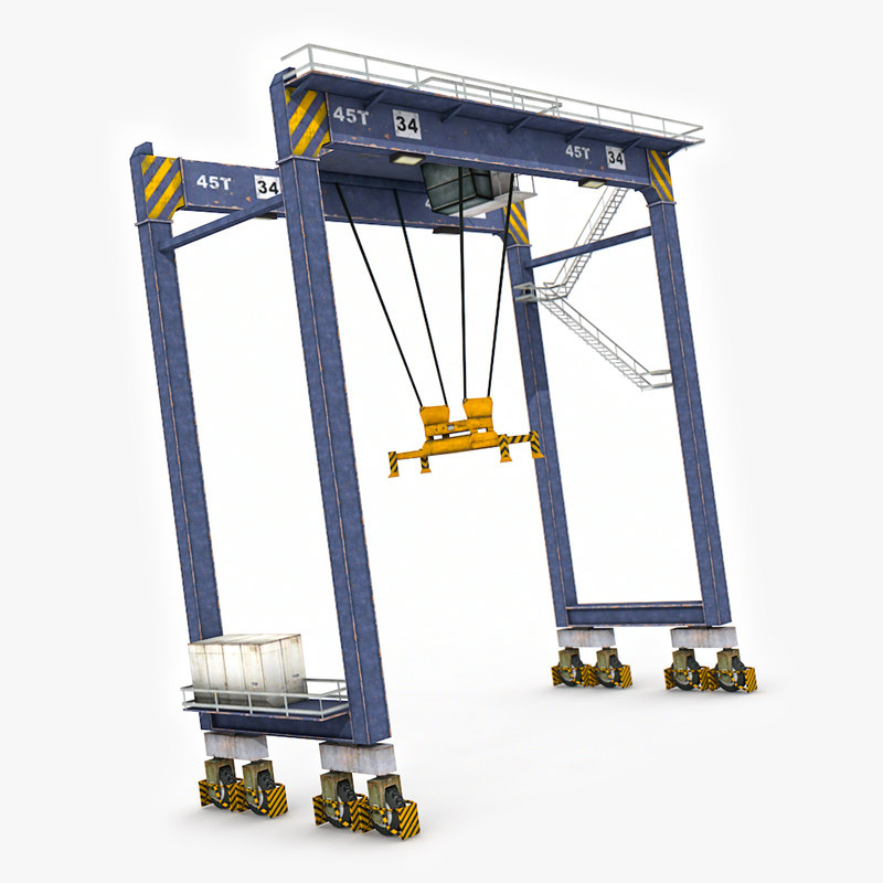 3D port gantry crane model