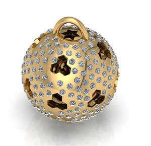 3D ball neckless
