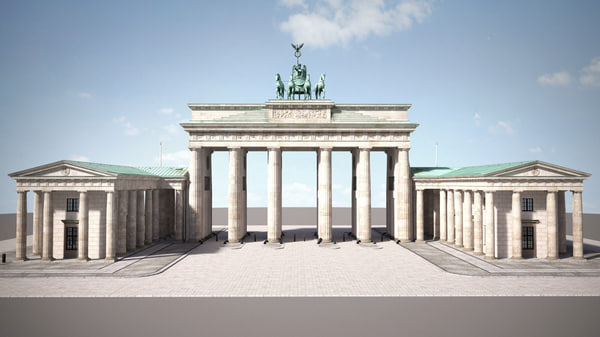 3D brandemburg berlin gate