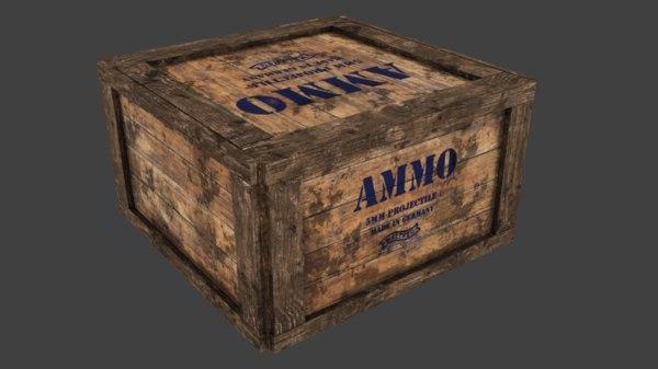 ammobox wood 3D model