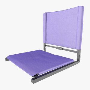 3D stadium seat bleachers