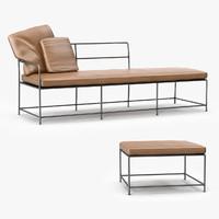 baxter girgenti sofa pouf 3D model