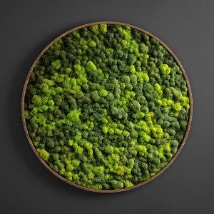 panel moss circle 3D model