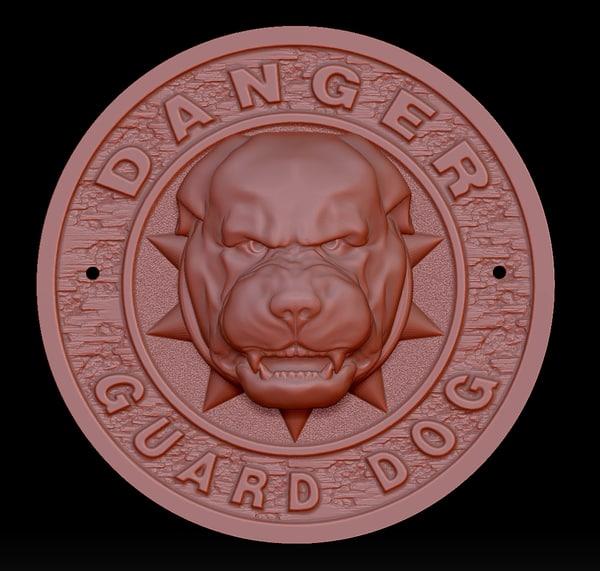 3D danger - guard dog