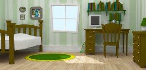 cartoon room model