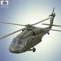 3D sikorsky uh-60 uh