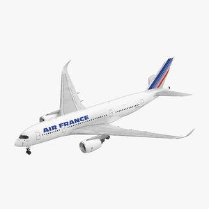 3D airbus a350-800 air france