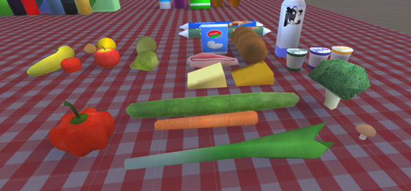 3D model food grocery