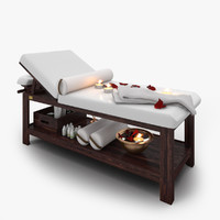 3D spa massage bed model