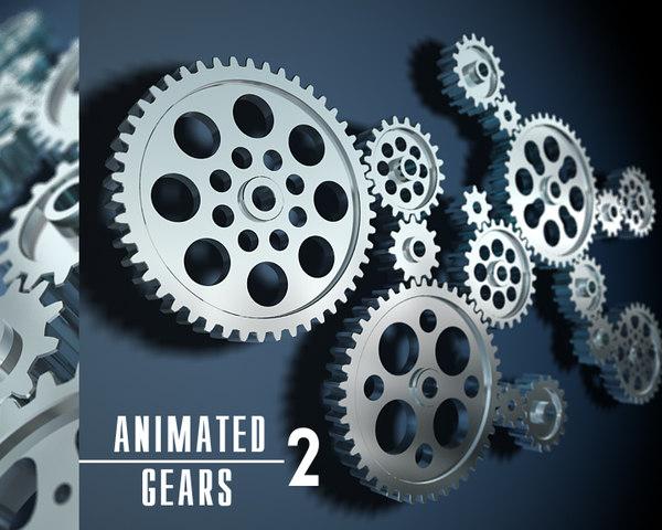 3D gear transmissions rotation model