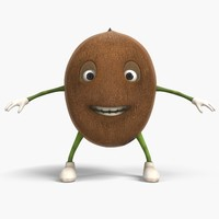 coconut cartoon 3D model