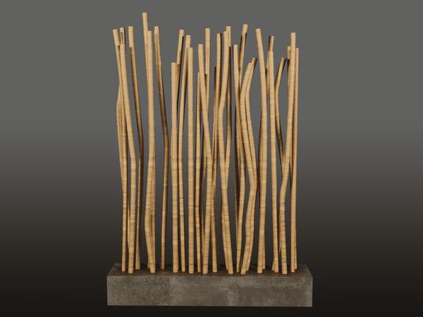 decorative bamboo model