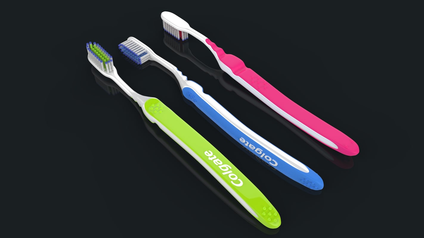 toothbrush toothpaste 3D model