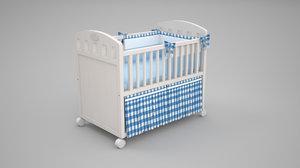 3D baby bed model