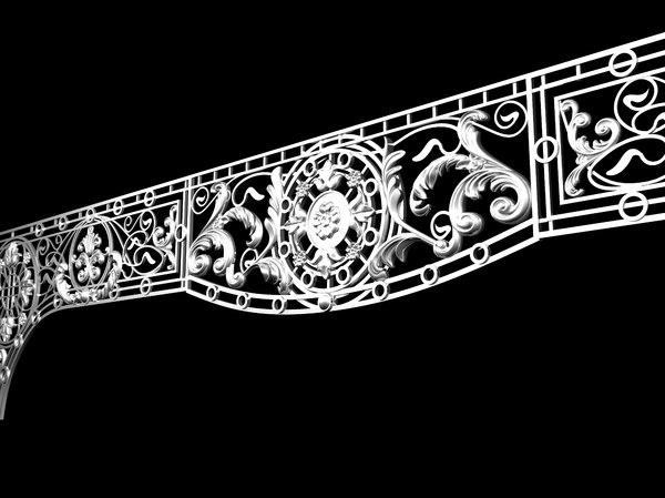iron ornament model