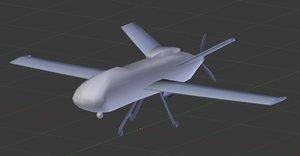 military drone reaper 3D model