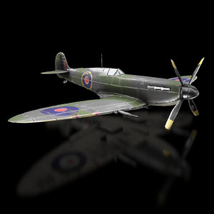aircraft supermarine spitfire unreal 3D