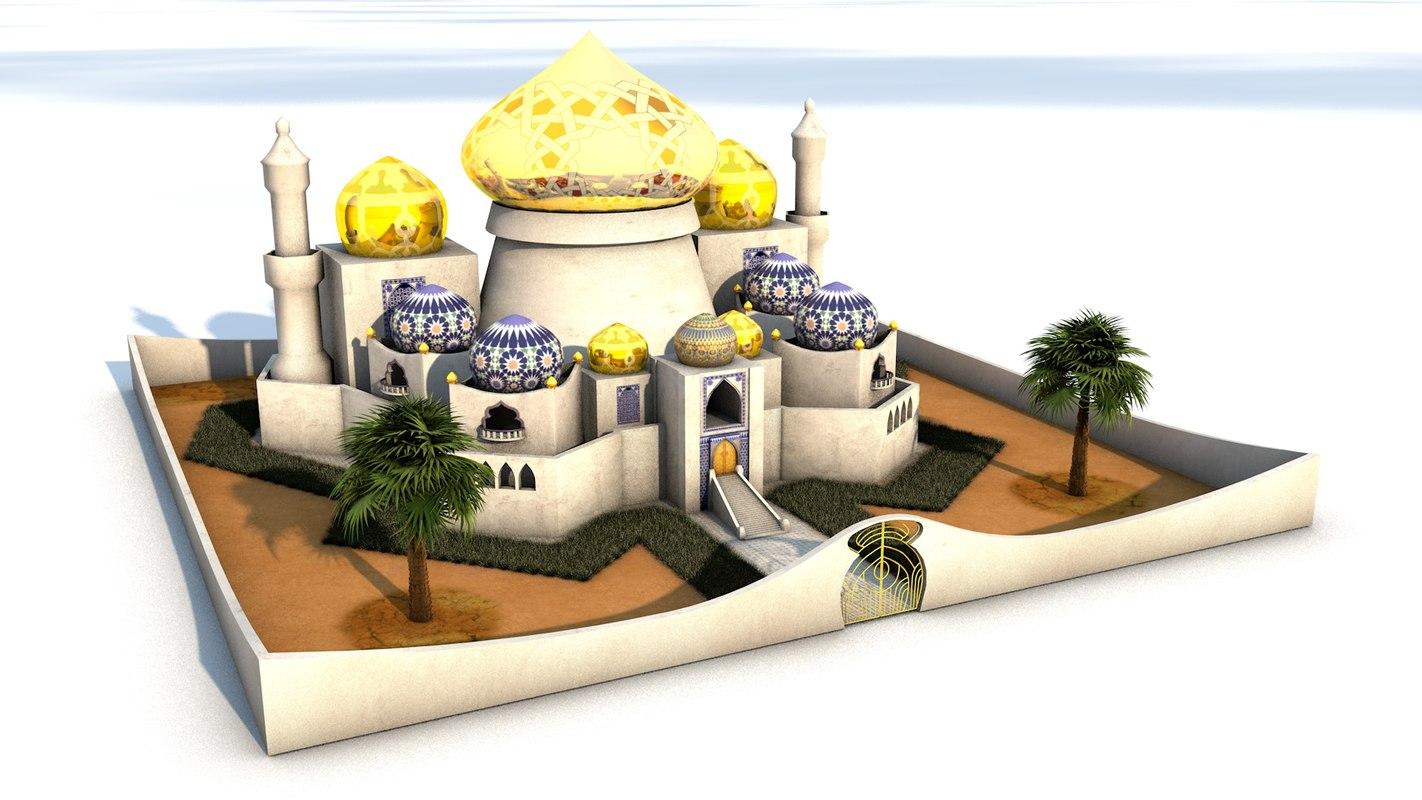 arabic palace model
