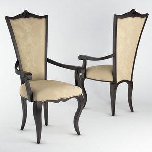 3D model seven sedie amanda