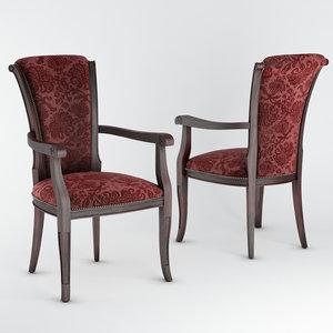3D brooklyn armchair 0567a model