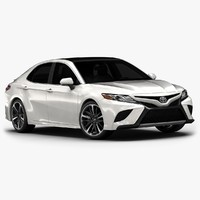 2018 toyota camry interior 3D model