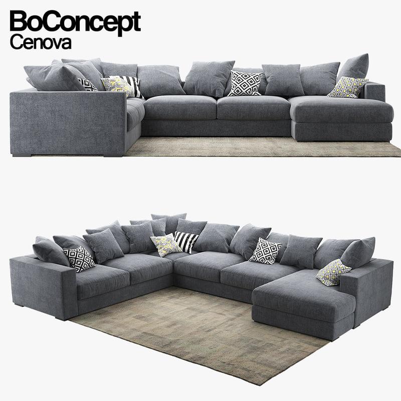 Sofa Boconcept 3d model sofa boconcept cenova 1147611 turbosquid
