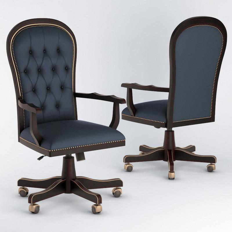 diderot swivel armchair 3D model