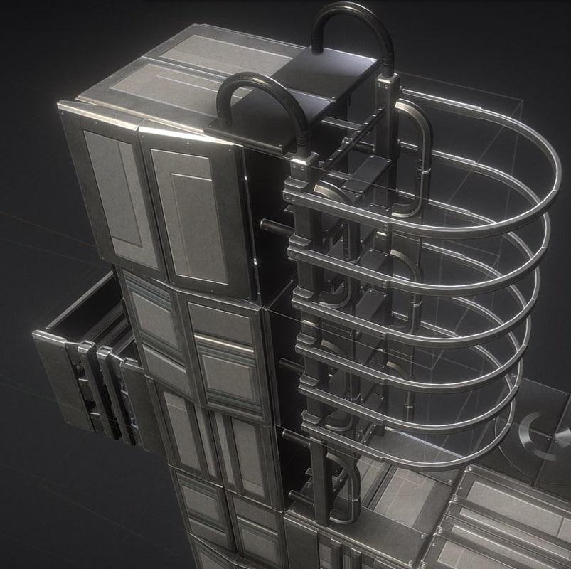 3D ladder basic set floor model