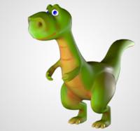 dinosaur rigg 3D model