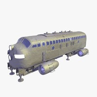 future shuttle passenger bus 3D
