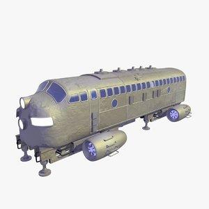future shuttle passenger bus 3D