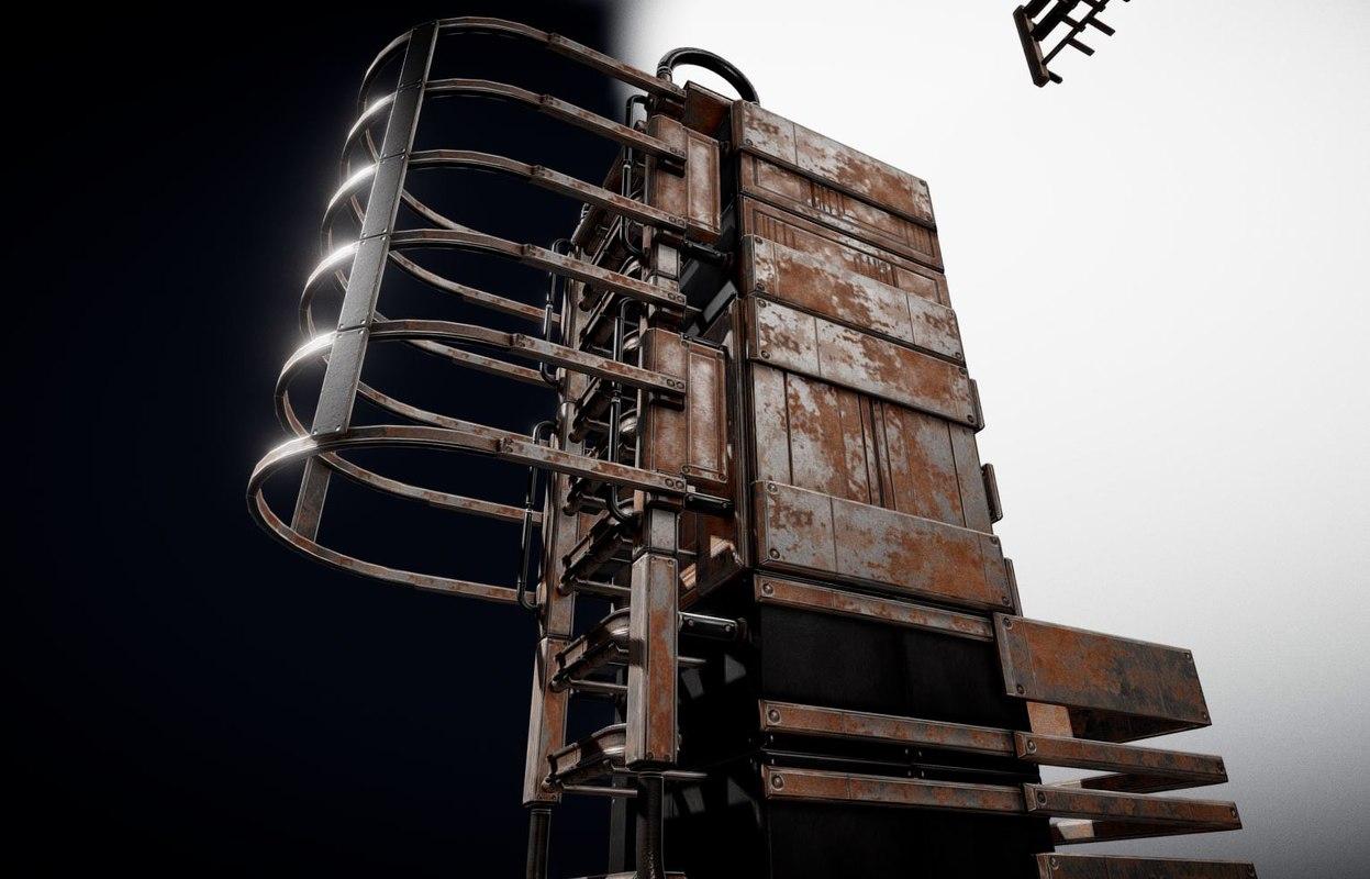 3D ladder set model