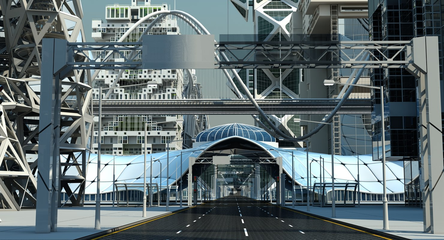 future city road 3D