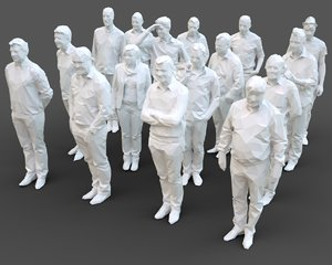 architectural stylized human character model