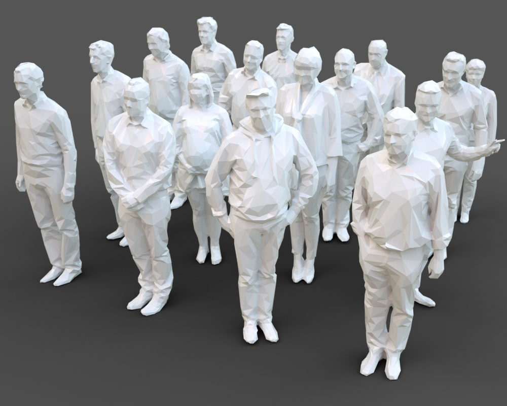 3D architectural stylized human character