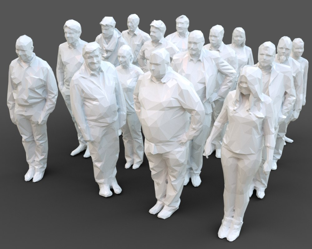 architectural stylized human character 3D