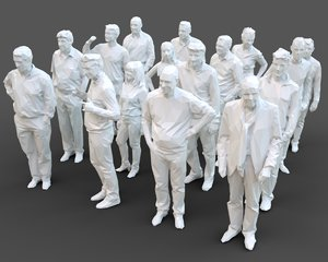 3D architectural stylized human character model