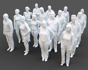 3D model architectural stylized human character