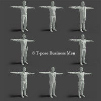 business men 8 3D model