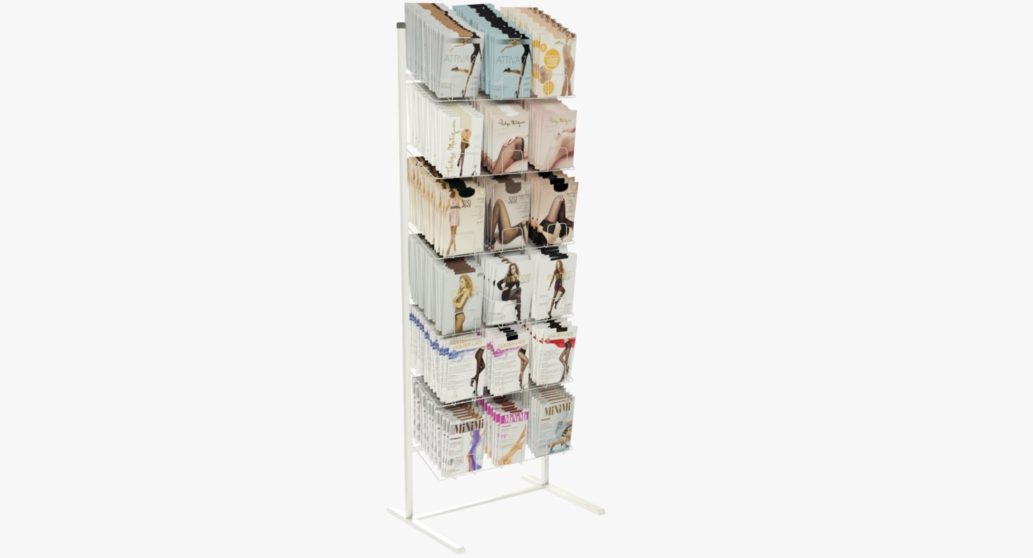 3D pantyhose rack