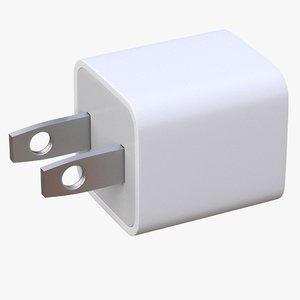 3D model apple usb wall charger