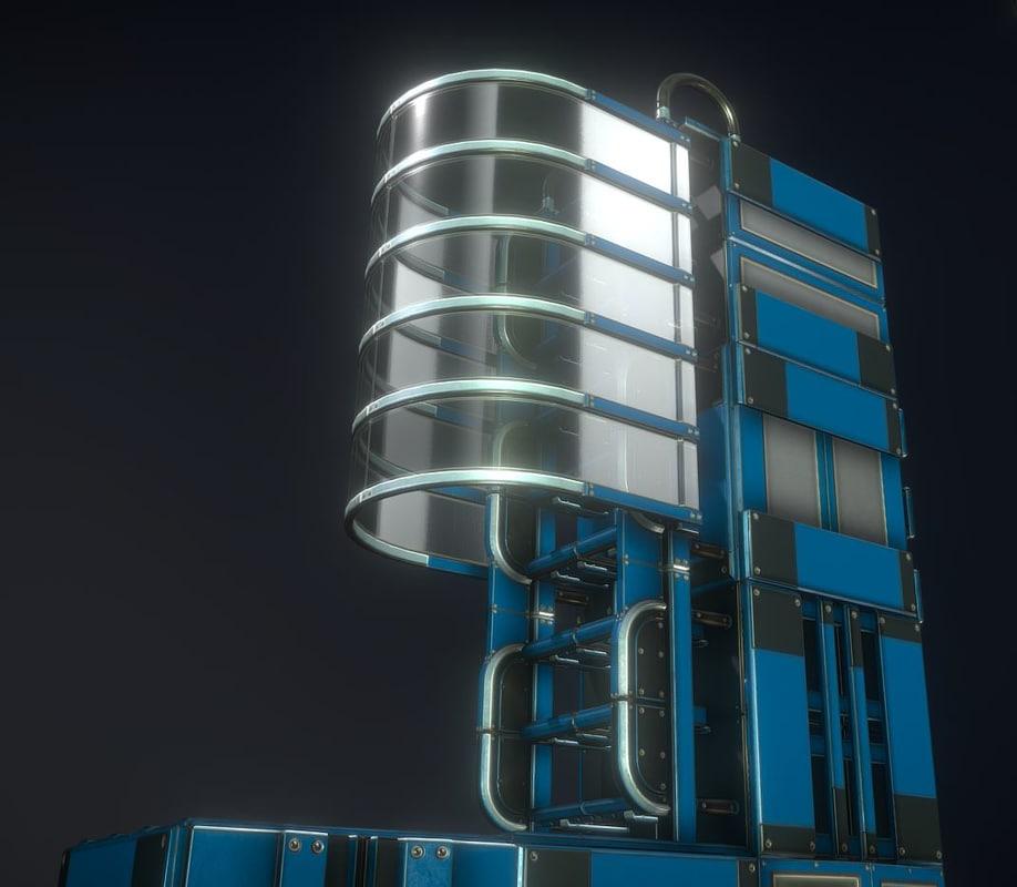 3D ladder set floor model