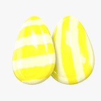 3D candy stripe lemon drop model