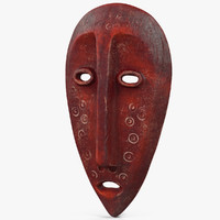 3D african mask old