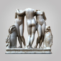 3D graces sculpture scanned