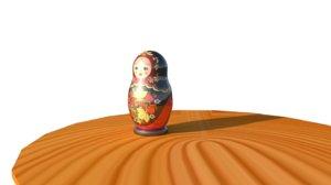3D russian matryoshka