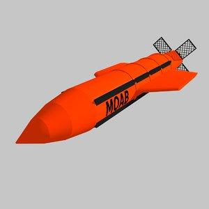 3D gbu-43 moab bombs