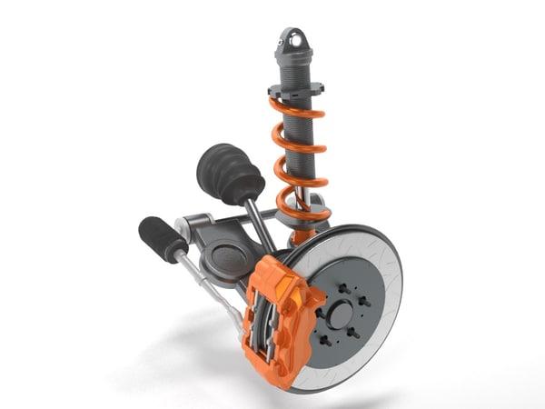 3D model suspension elements