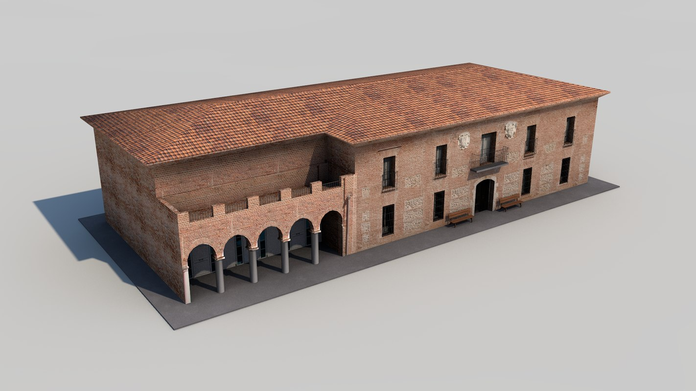3D country house model