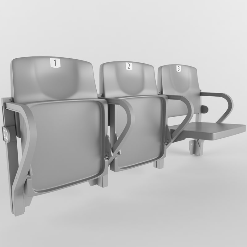 stadium seat figueras 205 3D model